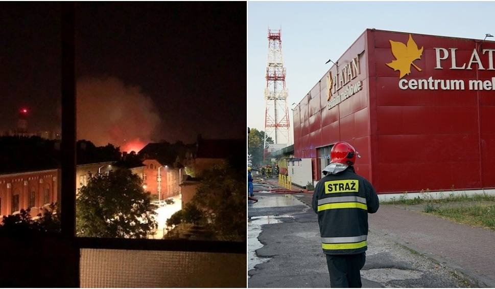 Film do artykułu: Pożar sklepu meblowego Platan w Szczecinie. Płonęła hala przy ul. Jagiellońskiej - 11.08.2020