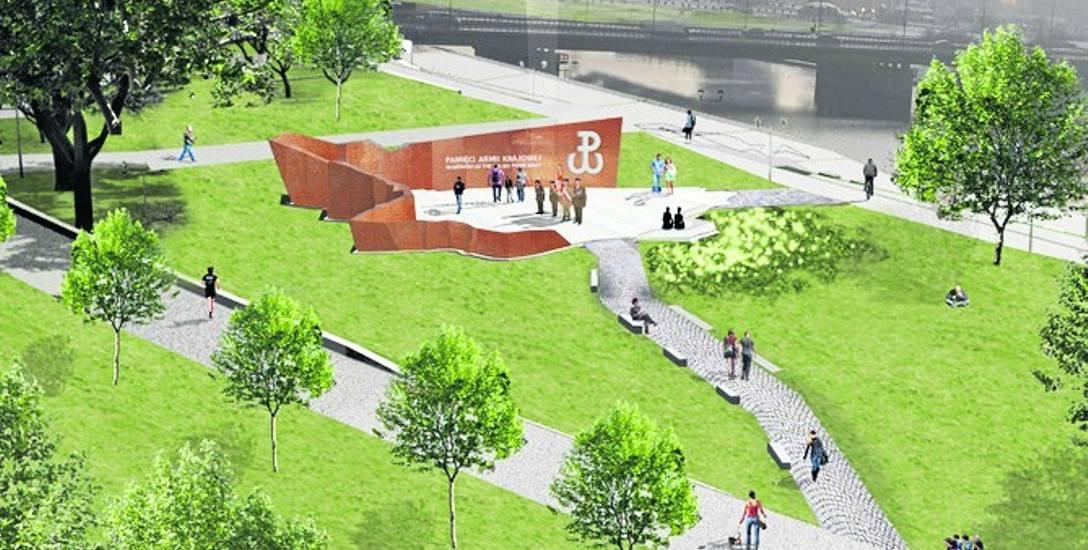 Tak ma wyglądać pomnik Armii Krajowej w Krakowie
