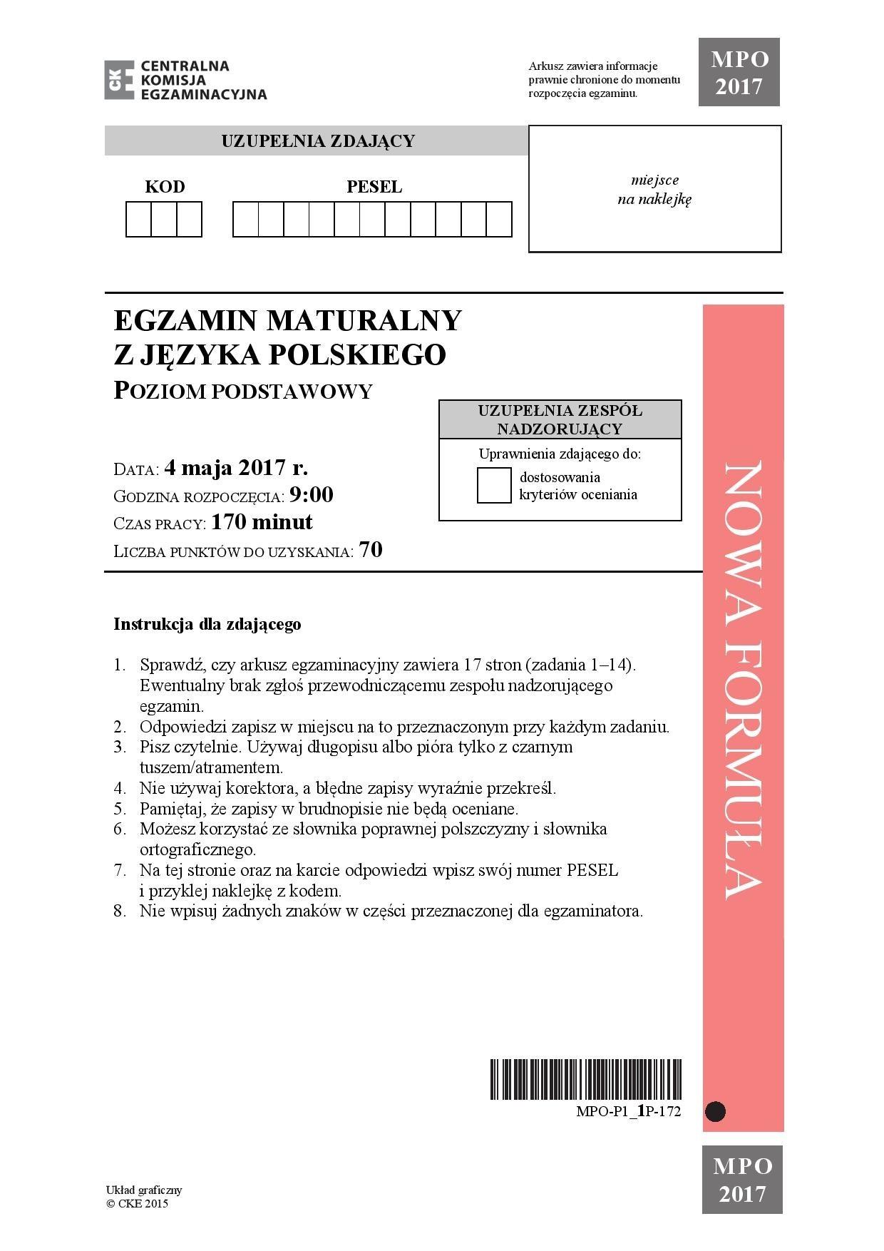 matura j polski rozszerzona