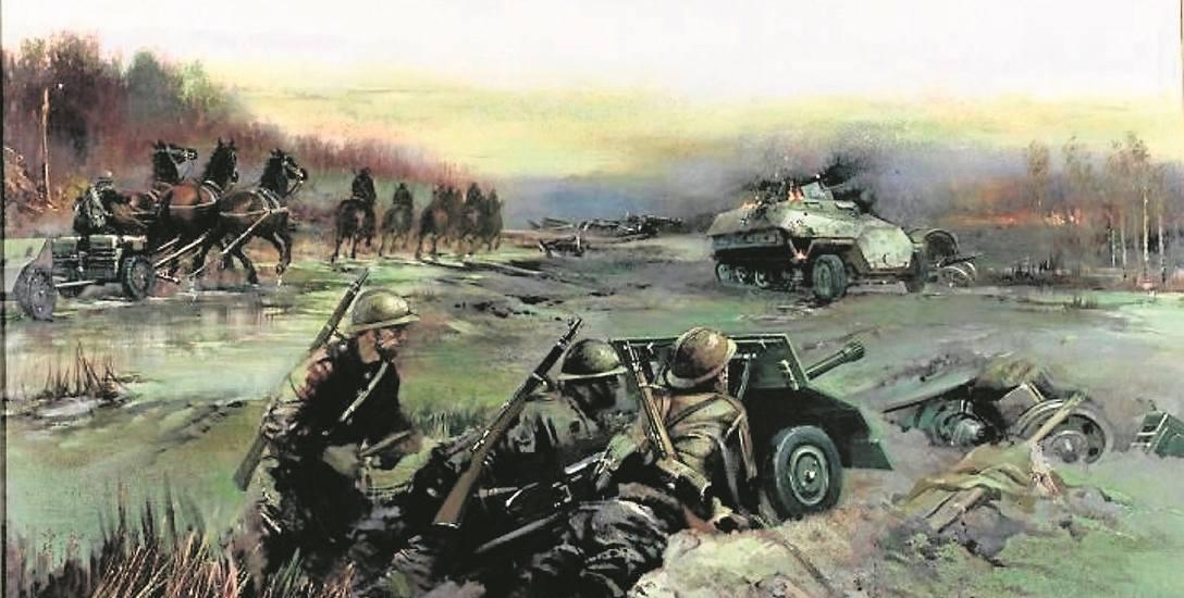 Obraz przedstawiający bitwę pod Kockiem