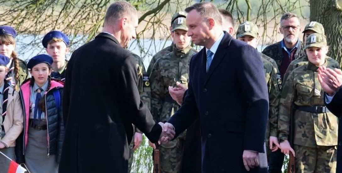 Prezydenta Dudę w Mogilnie witał burmistrz Leszek Duszyński