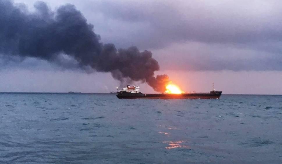 Film do artykułu: Pożary statków w Cieśninie Kerczeńskiej. Zginęło co najmniej 9 osób [WIDEO] [ZDJĘCIA]