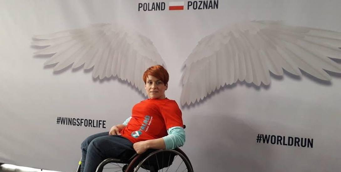 """W zeszłą niedzielę, 5 maja, pani Ania wystartowała w """"Wings for Life"""" w Poznaniu. Wygrała w kategorii kobiet na wózku."""
