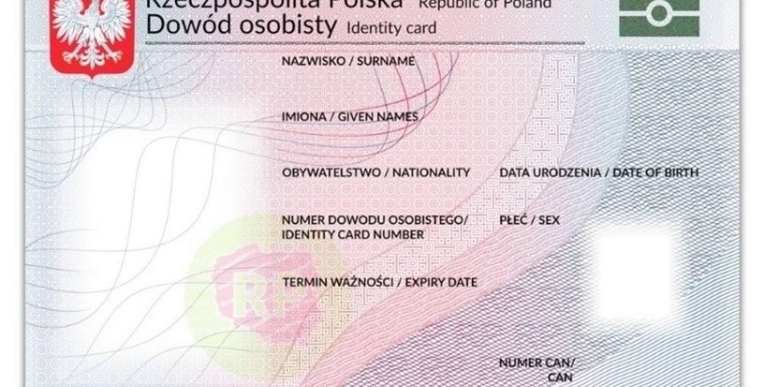 Tak będzie wyglądał awers e-dowodu. Wielofunkcyjny dokument z warstwą elektroniczną będzie wdrożony w Polsce od 4 marca br.