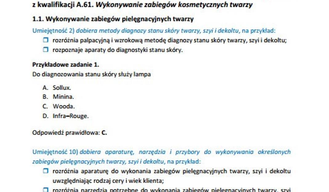 Nowy Egzamin Zawodowy 2014 Technik Uslug Kosmetycznych Arkusze