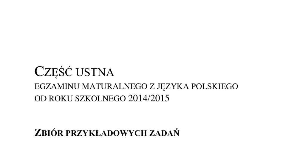 Film do artykułu: Matura ustna Polski 2019 TEMATY, zbiór zadań CKE z matury ustnej z polskiego 17.05 (Odpowiedzi, Arkusze)