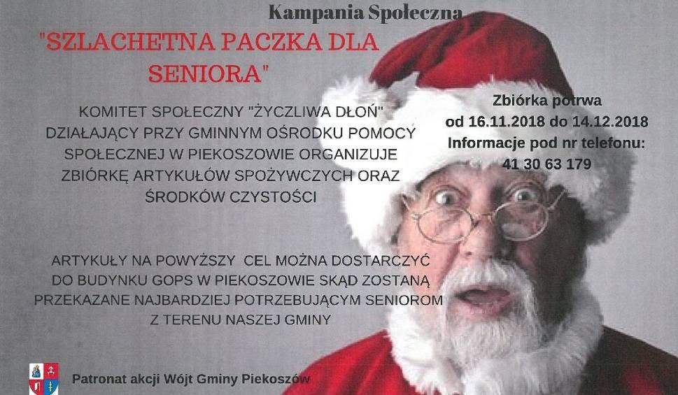 """Film do artykułu: Gmina Piekoszów. """"Szlachetna paczka dla seniora"""" - dołącz do akcji pomóż potrzebującym"""