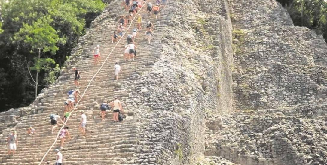Piramida w starożytnym mieście Teotihuacan