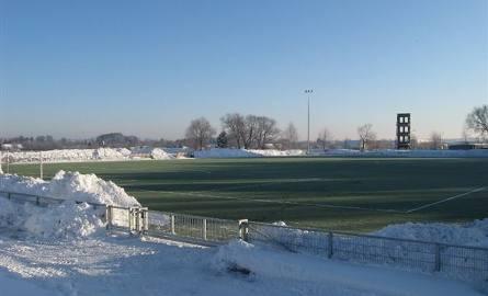 Zielone boisko w środku zimy (zdjęcia)