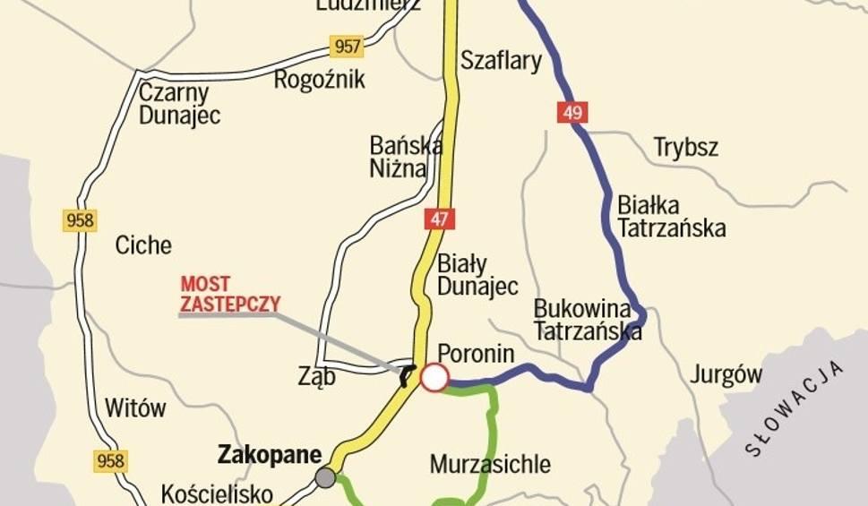 Film do artykułu: Podhale. Zamknięta droga do Poronina. Jak dojechać do wioski? [MAPA]
