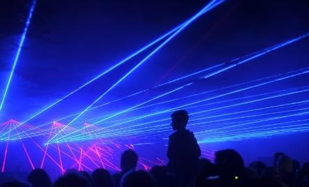 Skyway 2019. Pokaz laserowy na Młynie Wiedzy. Zobaczcie zdjęcia!