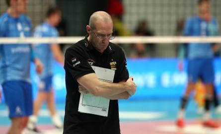 Trener PGE Skry Bełchatów Roberto Piazza nie ma wesołej miny