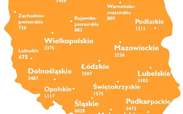 Źródło: NFOŚiGW, stan na 26.03.2013 r.