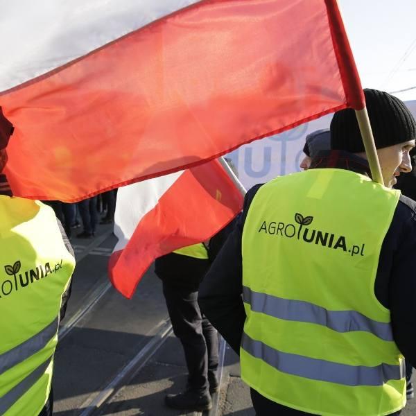 Zdjęcie z protestu na początku kwietnia, kiedy Agrounia ponownie pojawiła się na ulicach Warszawy