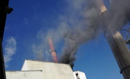 Pożar w krakowskiej elektrociepłowni [ZDJĘCIA INTERNAUTÓW]