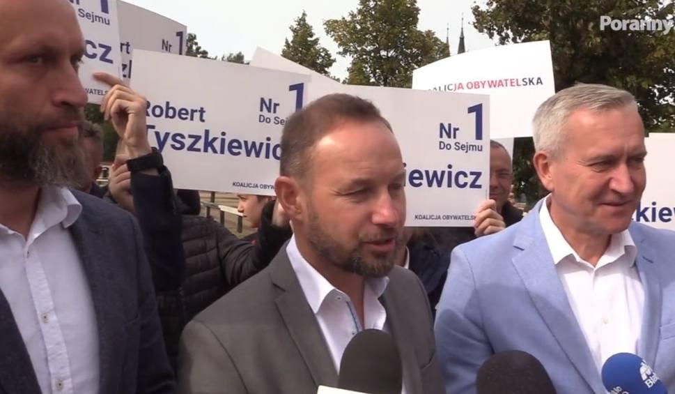 Film do artykułu: Wybory 2019. Tomasz Frankowski zachęcał do głosowania na Łukaszuka i Nikitorowicza (zdjęcia)