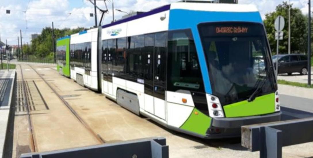 Przystanek końcowy na Os. Kaliny wizualizacja tramwaju dwukierunkowego na podstawie fotografii olsztyńskiego tramwaju tramino. Klasycznej pętli taki