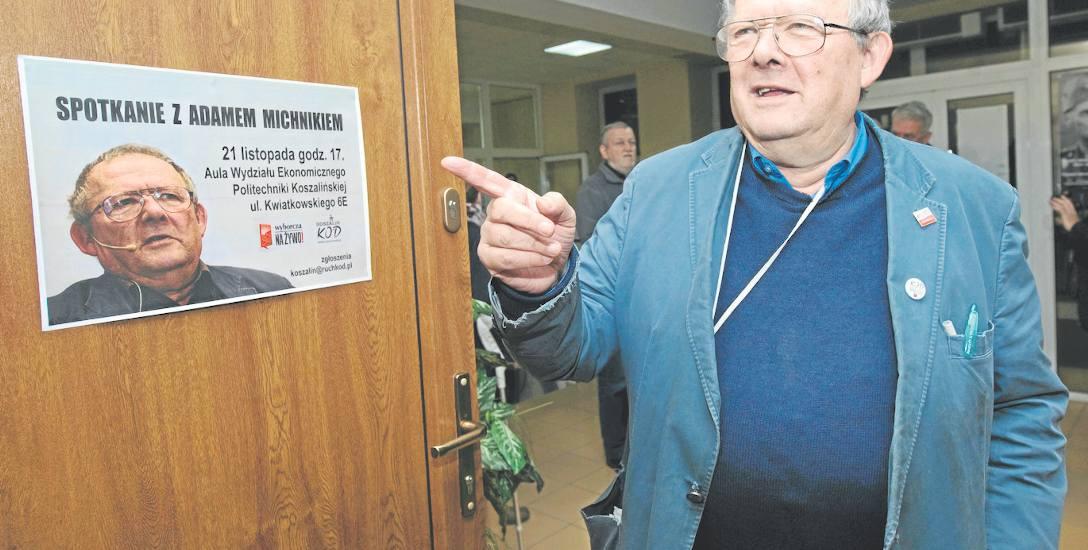 Aula na Politechnice, gdzie zorganizowano spotkanie, była pełna, a Adam Michnik przez ponad 2 godziny odpowiadał na pytania