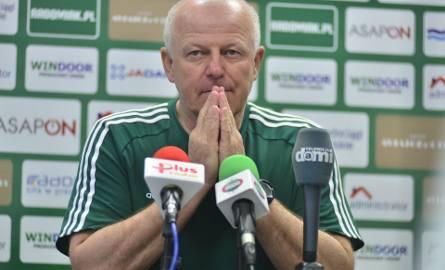 Verner Liczka, trener Radomiaka Radom.