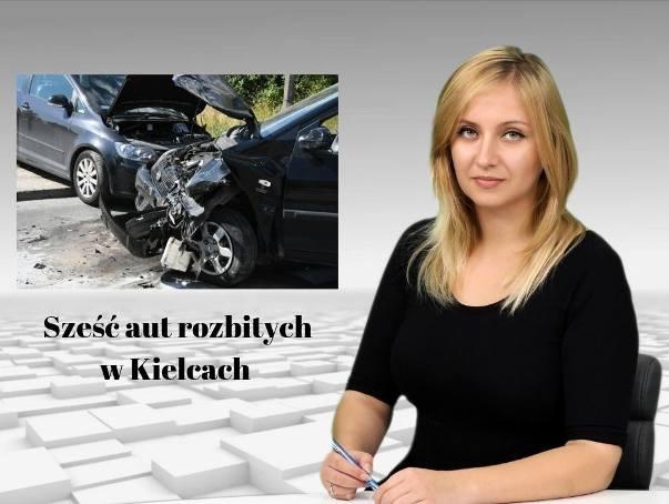 Wiadomości Echa Dnia. Sześć aut rozbitych w Kielcach