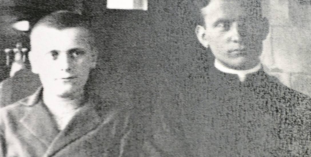 Wówczas diakon Erhard Staniszewski z (z prawej) z bratem Franciszkiem.