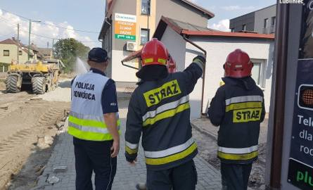Rozszczelnienie gazociągu w Lublińcu. Ewakuowano 50 osób ZDJĘCIA