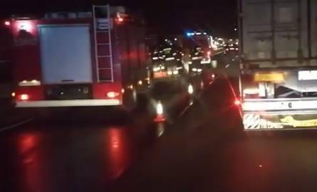Wypadek na DK1 w Koziegłowach