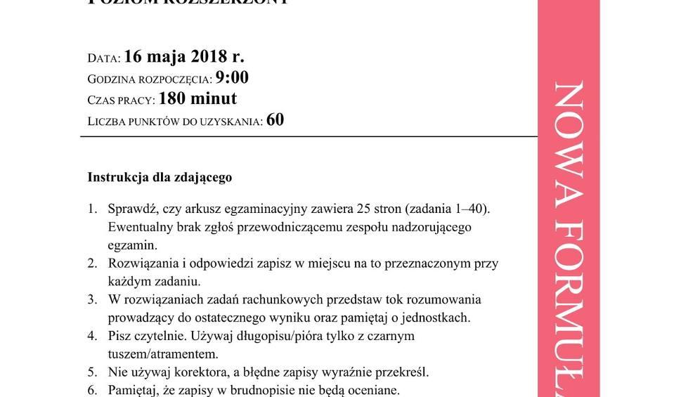 Film do artykułu: Matura 2018 Chemia rozszerzona Odpowiedzi, Rozwiązania, Arkusz CKE MATURA Z CHEMII ROZSZERZONEJ [16.05.2018]