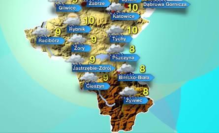 Na południu województw śląskiego prognozuje się intensywne opady deszczu