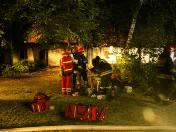 Pożar na Ogrodowej w Łodzi. Ktoś podpalił kamienicę. Ranny strażak i 3 osoby [ZDJĘCIA, FILM]