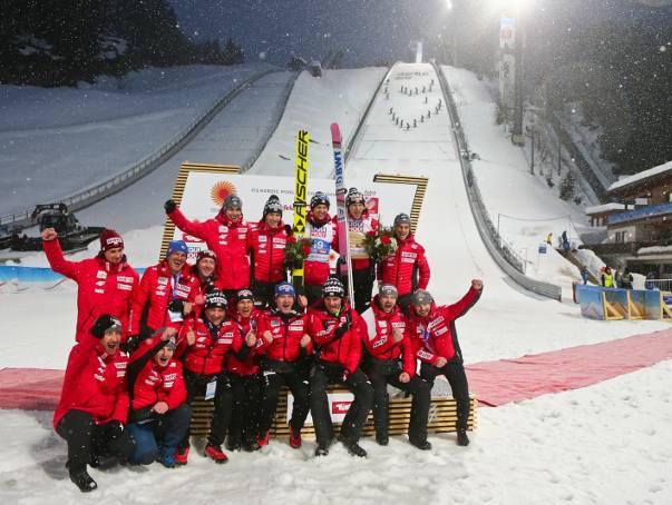 Skoki narciarskie Planica 2019. Horngachera żegnamy z uśmiechem i zwycięstwem w konkursie drużynowym. W nagrodę burgery od Amerykanów