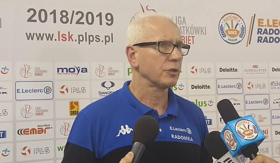 Film do artykułu: Jacek Skrok, trener E.Leclerc Radomki po przegranej z Grot Budowlanymi Łódź: Zdobyliśmy bardzo cenny punkt