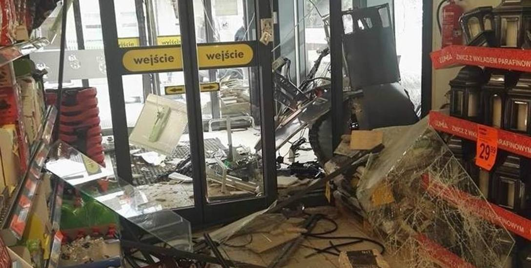 Wysadzili bankomat w Małomicach. Użyli butli  pełnej  gazu!
