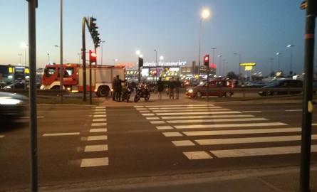 DK7. Wypadek pod Ikea, tworzą się duże korki