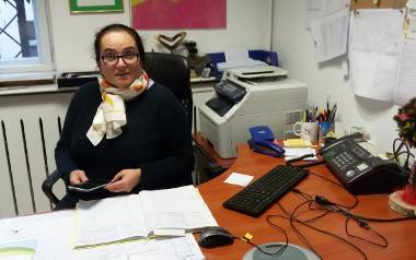 Na tym biurku stał komputer. - Zostałyśmy bez podstawowego narzędzia pracy - mówi dr Anita Kucharska-Dziedzic