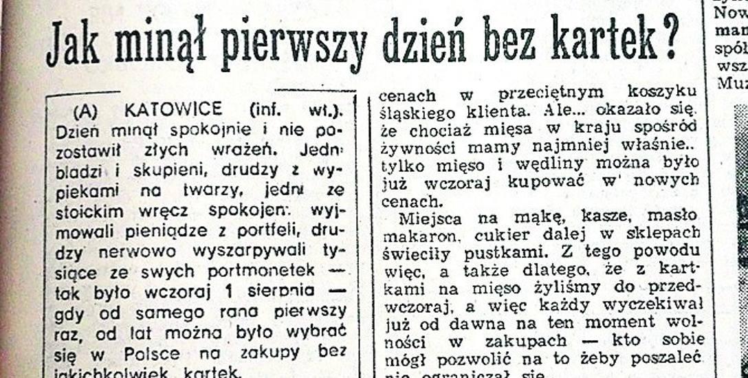 2 sierpnia 1989 w DZ: Boczek, żywiecka, pasztetowa... Pierwszy raz bez kartek!