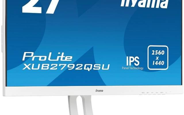 iiyama: Trzy białe monitory