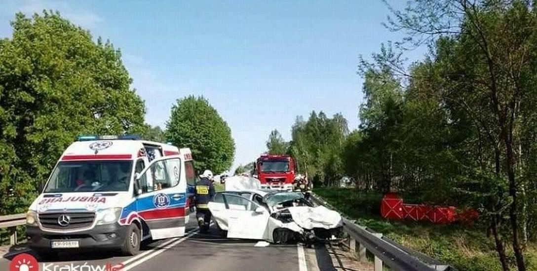 Pogotowie na miejscu wypadku