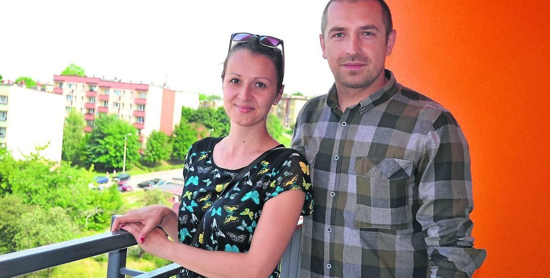 Natalia i Michał Bisiowie czekali na nowe mieszkanie 2,5 roku. Bardzo im się podoba i nie mogą doczekać się przeprowadzki