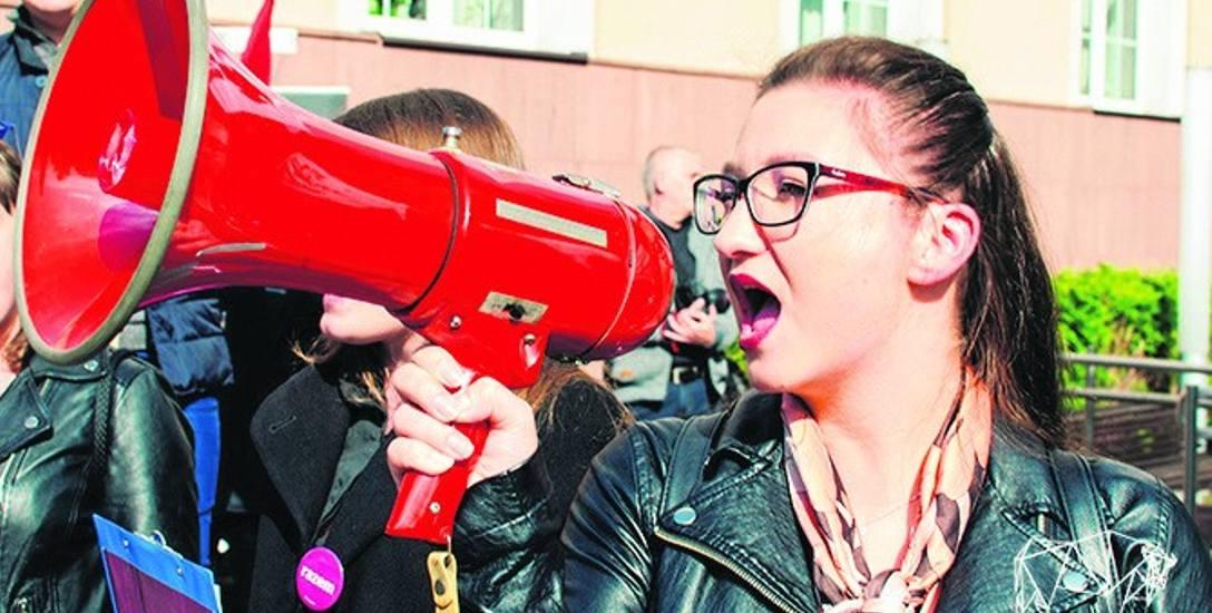 Do wspólnej manifestacji zachęca Justyna Rembiszewska z partii Razem