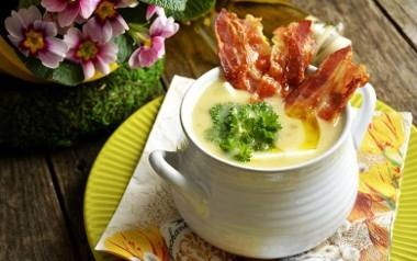 Kremowa zupa chrzanowa.