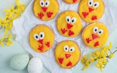 Wielkanocne ciasteczka-kurczaczki.