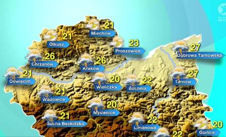 Pogoda na poniedziałek, 27 czerwca