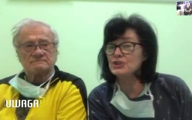 Maria i Zbigniew Książkiewicz są jednymi z pierwszych pacjentów szpitala zakaźnego w Tychach, przeznaczonego tylko dla pacjentów z koronawirusem.
