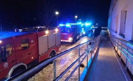 Zdjęcie z miejsca pożaru w internacie w Trzcianie otrzymaliśmy od Internauty.