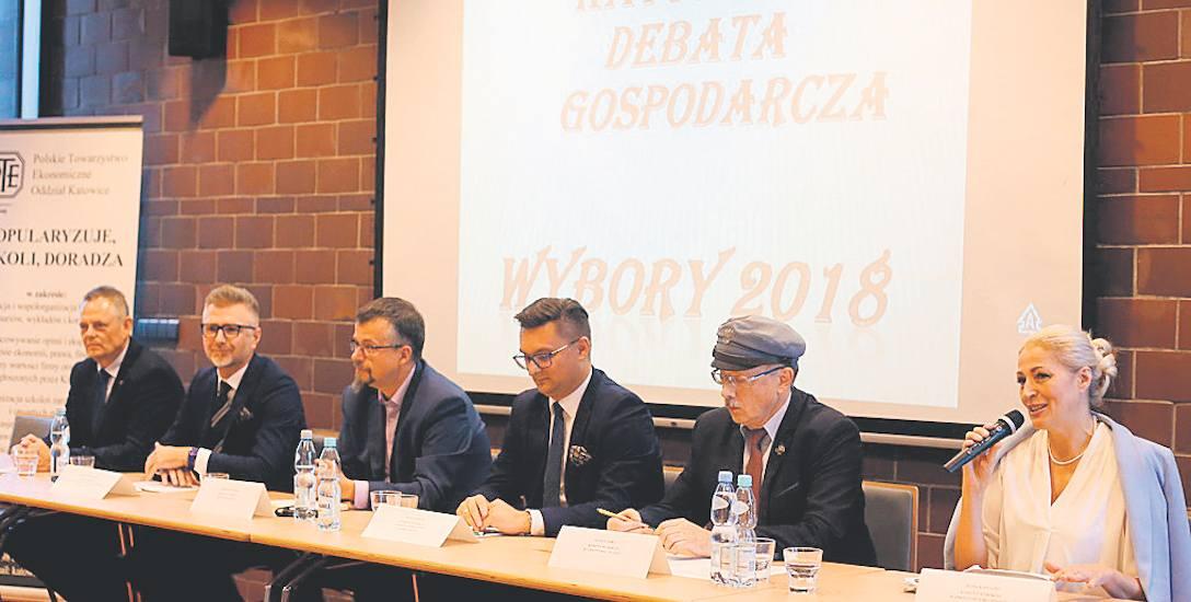 Na debacie pojawili się wszyscy kandydaci na prezydenta Katowic, z wyjątkiem Jakuba Kalusa