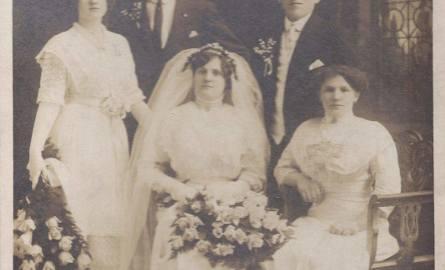 Leonard Dynowski i Josephine Misiaczek, zdjęcie ślubne, USA, 1913 r.