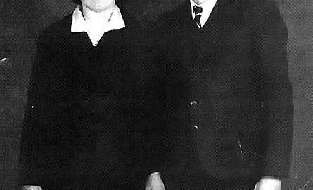 Lata 40. Anastazja i Józef Szynklarzowie, rodzice pani Cecylii