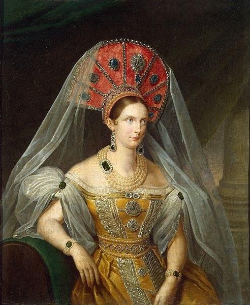 Portret księżniczki Aleksandry Fiodorownej pędzla A. Maliukowa ze zbiorów Ermitażu