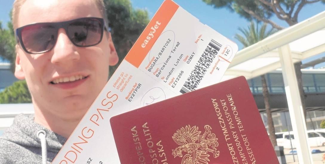 Bartosz Bugara nie żałuje wyjazdu do Barcelony. - Z przygodami ale udało się uzyskać nowy paszport i wrócić do Anglii - mówi
